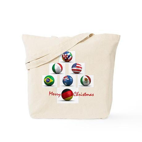 Soccer Christmas Tree Tote Bag