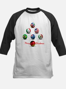 Soccer Christmas Tree Kids Baseball Jersey