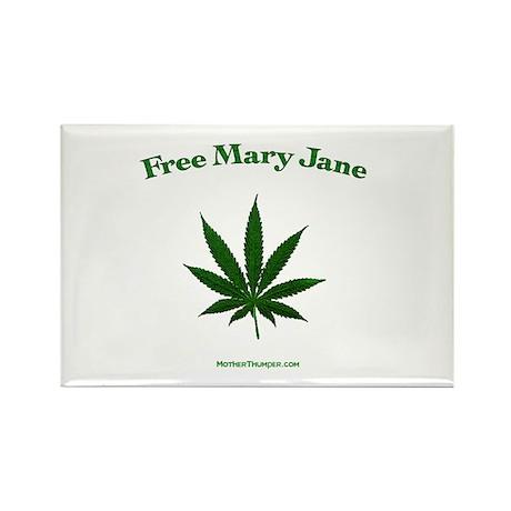 Free mary Jane Rectangle Magnet