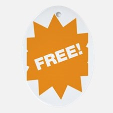 Free! Oval Ornament