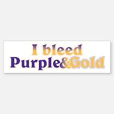 Bleed Purple and Gold Bumper Bumper Sticker