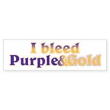 Bleed Purple and Gold Bumper Sticker