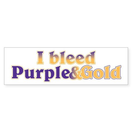 Bleed Purple and Gold Sticker (Bumper)