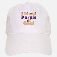 Bleed Purple and Gold Baseball Baseball Cap