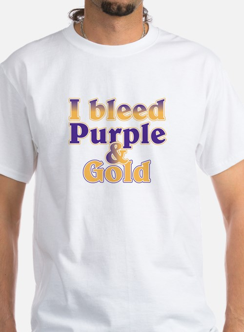 Bleed Purple and Gold Shirt