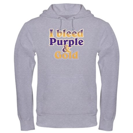 Bleed Purple and Gold Hooded Sweatshirt