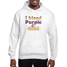 Bleed Purple and Gold Hoodie