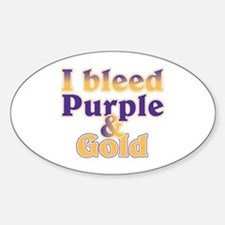 Bleed Purple and Gold Decal