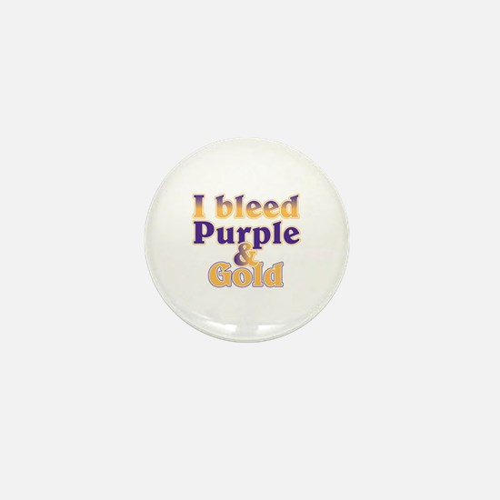 Bleed Purple and Gold Mini Button
