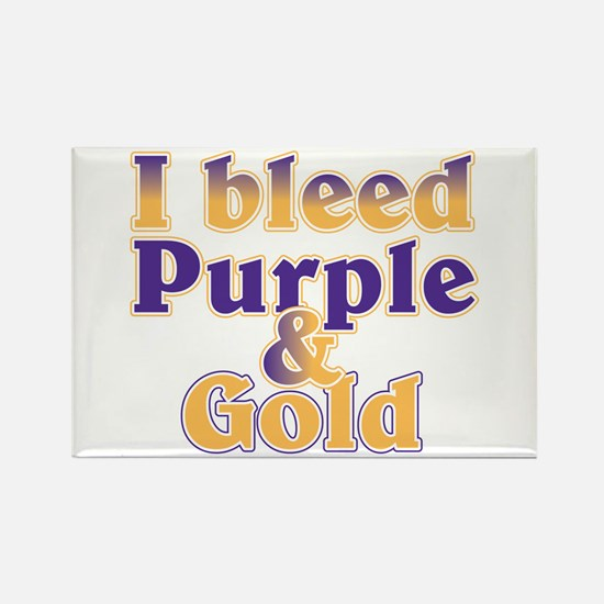 Bleed Purple and Gold Rectangle Magnet