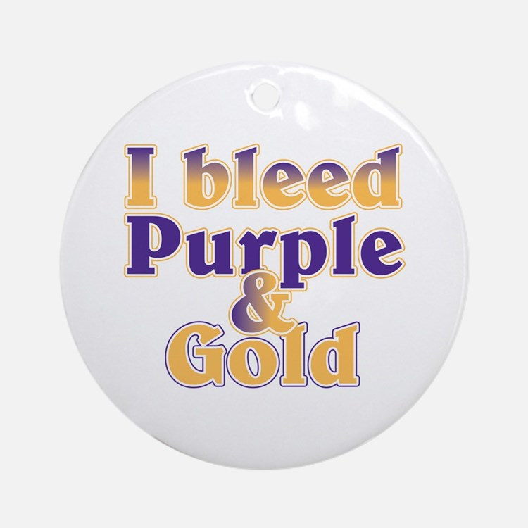 Bleed Purple and Gold Ornament (Round)