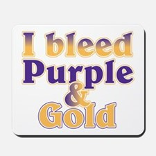 Bleed Purple and Gold Mousepad