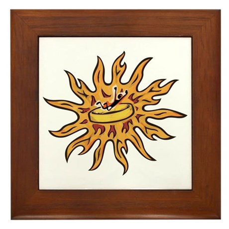 Ring of Fire Framed Tile