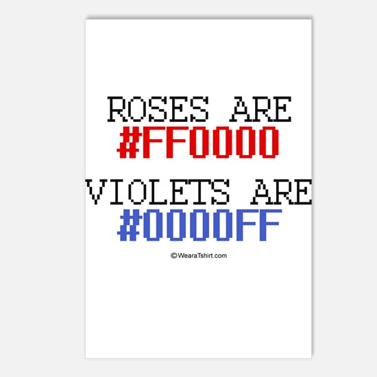 Roses are red (#FF000) ~  Postcards (Package of 8)