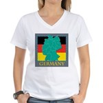 Germany Map Women's V-Neck T-Shirt