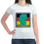 Germany Map Jr. Ringer T-Shirt