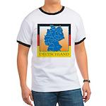 Deutschland German Map Ringer T