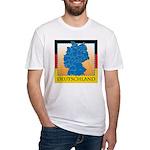 Deutschland German Map Fitted T-Shirt