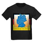Deutschland German Map Kids Dark T-Shirt