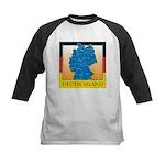 Deutschland German Map Kids Baseball Jersey