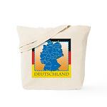 Deutschland German Map Tote Bag