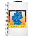 Deutschland German Map Journal