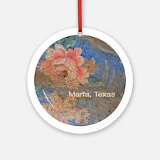 Ornament (Round): Marfa, Texas vintage rose
