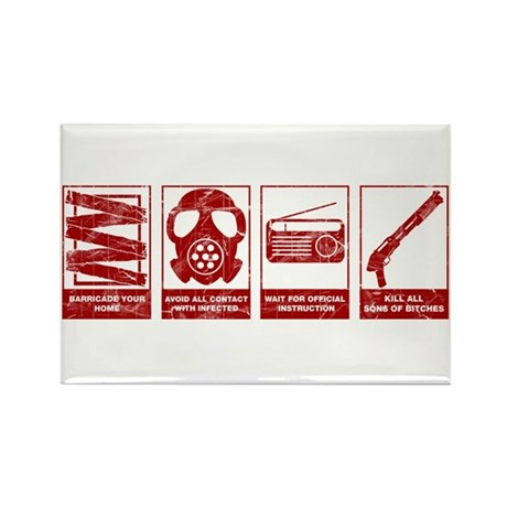 In Case Of Zombie Apocalypse Rectangle Magnet