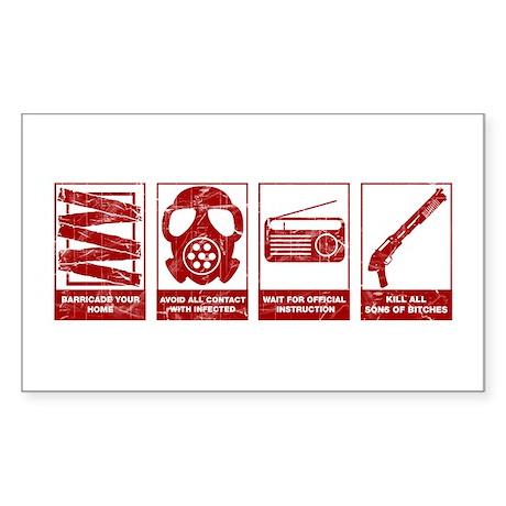 In Case Of Zombie Apocalypse Rectangle Sticker