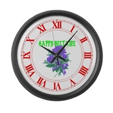 HAPPY Beltaine Large Wall Clock