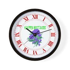 HAPPY Beltaine Wall Clock