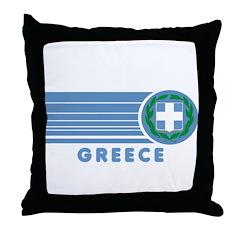 Greek Vintage Throw Pillow
