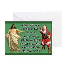 Jesus Versus Santa Greeting Card