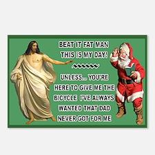 Jesus Versus Santa Postcards (Package of 8)