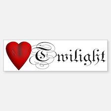 Twilight Scratched Heart Bumper Bumper Bumper Sticker