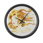 Elemental Air on a Large Wall Clock