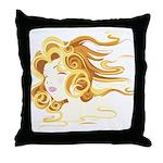 Anime Air Art on a Throw Pillow