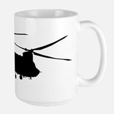 CH-47 Chinook on light Mugs