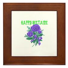 HAPPY Beltaine Framed Tile