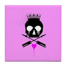 Punk Rock Princess Tile Coaster
