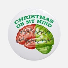 Christmas/Mind Ornament (Round)