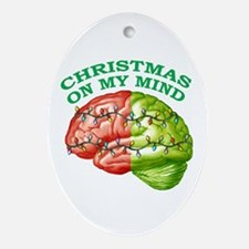 Christmas/Mind Oval Ornament