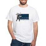 Anime Catgirl Art White T-Shirt