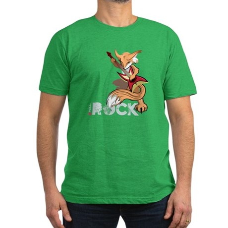 Rockin Fox Design Men's Fitted T-Shirt (dark)