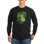 Illustrative Earth Design Long Sleeve Dark T-Shirt