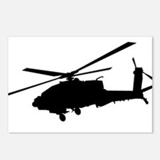 Apache helicopter Postcards (Package of 8)