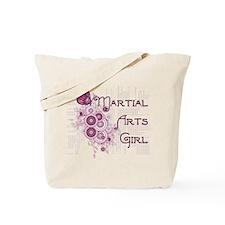 Martial Arts Girl Tote Bag