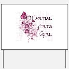 Martial Arts Girl Yard Sign
