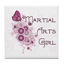 Martial Arts Girl Tile Coaster