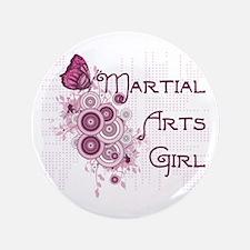 """Martial Arts Girl 3.5"""" Button"""
